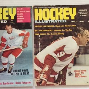 Other - Vintage Hockey Illustrated (2) Dec 1969, Jan 1971